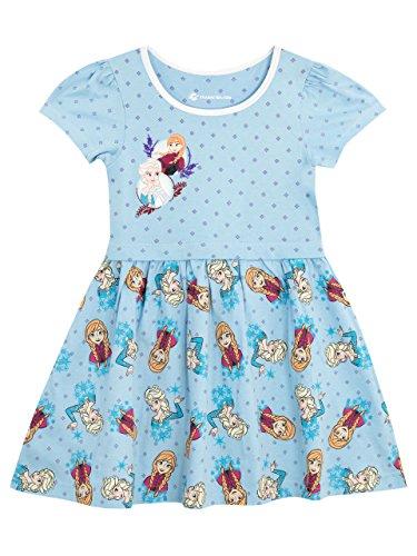 Disney La Reine des Neiges - Robe - Frozen - Fille - Bleu - 8 - 9 Ans