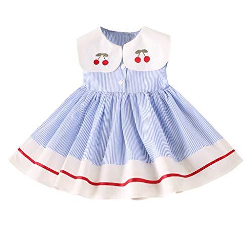 ELECTRI Robe de Filles Robe de Fleur de Filles Jupes Princesse Party Enfants Formels Robe Florale sans Manches pour 1-7Ans Fille