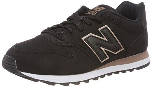 New Balance 500, Baskets Femme, Noir Black Rose Gold Br Black, 38 EU