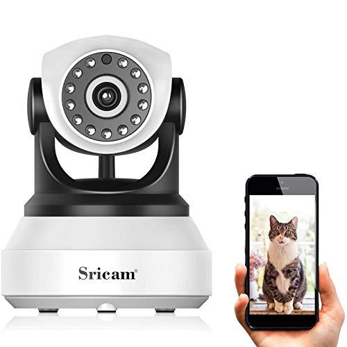 Caméra IP sans Fil, Sricam 1080P WiFi Caméra Surveillance Détection de Night Vision, 2 Voies Audio, Alerte de détection de Mouvement, Surveillance vidéo
