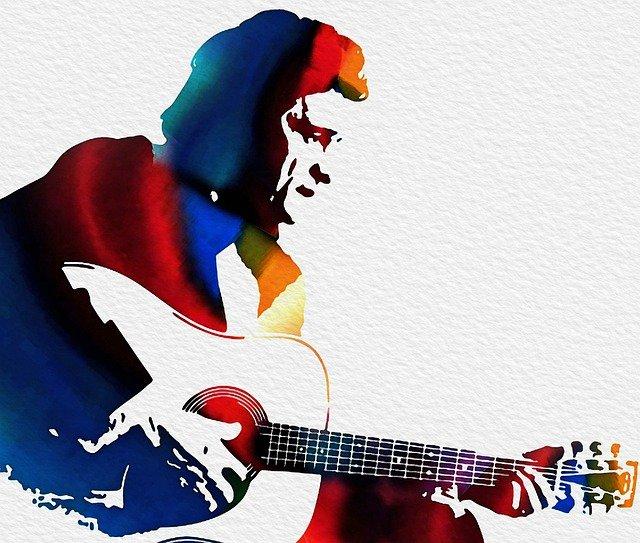 argent comptant de johnny, l'homme, guitare