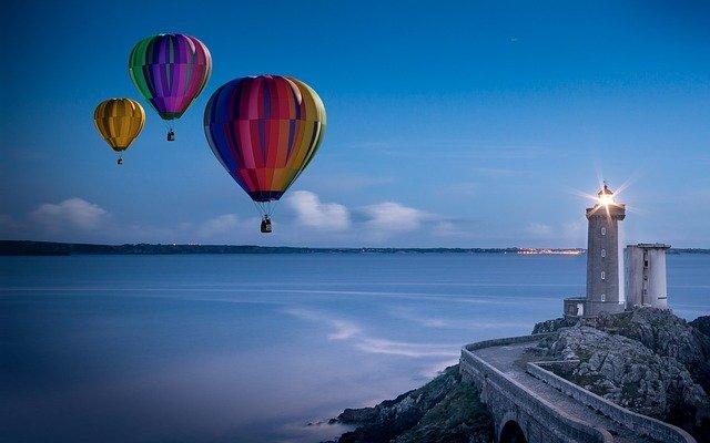 ballons, promenades en montgolfière, phare