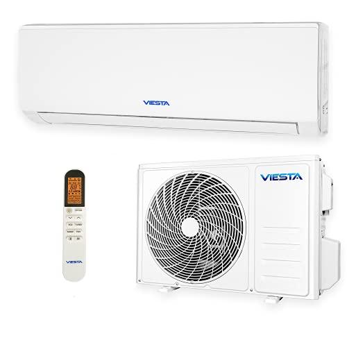 VIESTA 09SE Climatiseur Split Kit Climatisation, Climatiseur reversible Radiateur Climatiseur avec Titanium Gold, Télécommande et WiFi App (9000 BTU)