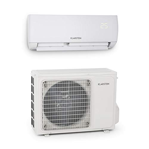 KLARSTEIN Windwaker Smart - Climatiseur Split, 600 m³/h, Mode Vent Naturel, Télécommande, Kit d'installation, Climatisation Rapide, Facile à Installer, 9000 BTU - Blanc