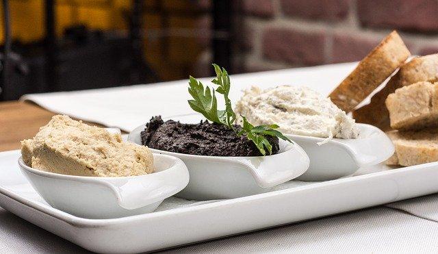 démarreurs, d'olive sur la pâte, pâte