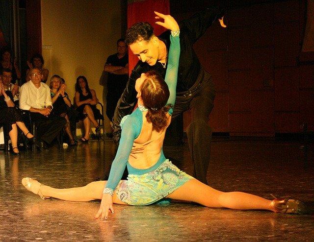 latine, danse, tango