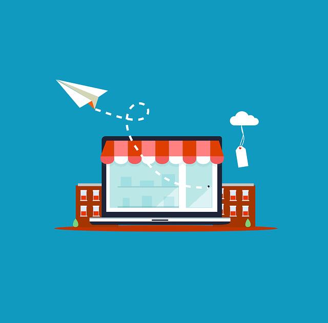 magasin, en ligne, ecommerce