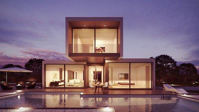 maison, piscine, design d'intérieur