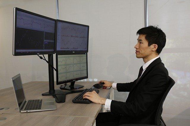 ordinateur, bureau, commercial