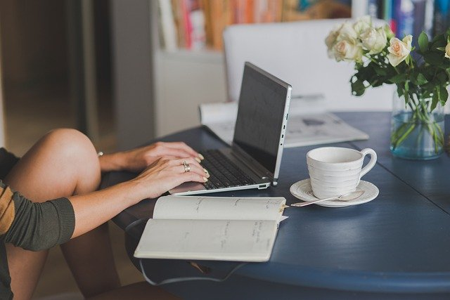 ordinateur portable, workstaion, bureau
