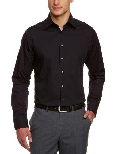Schwarze Rose - Chemise business - coupe cintrée - Col chemise classique - Manches longues - Homme - Noir (Schwarz 84) - 42CM (Taille fabricant: L)