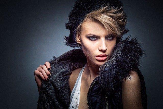 femme, modèle, portrait
