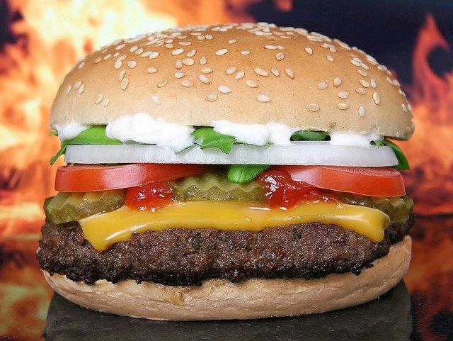 hamburger, burger, barbecue