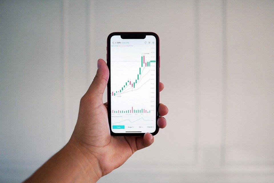 Main, Téléphone Intelligent, La Finance, Stock Trading